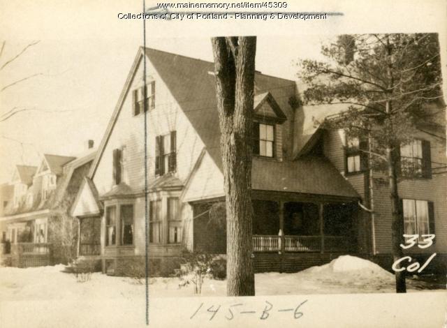 31 College Street, Portland, 1924