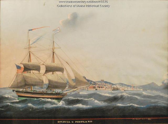 """Brig """"Octavia,"""" Naples, 1824"""