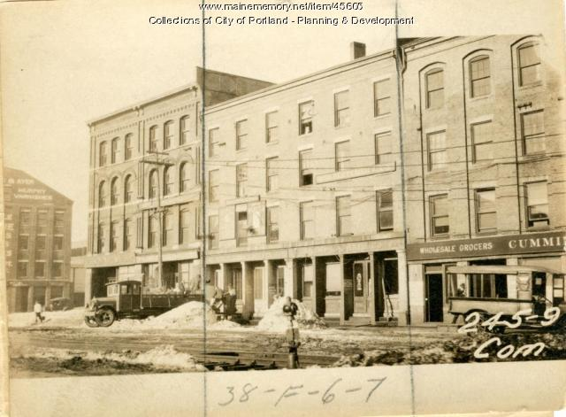 245-247 Commercial Street, Portland, 1924