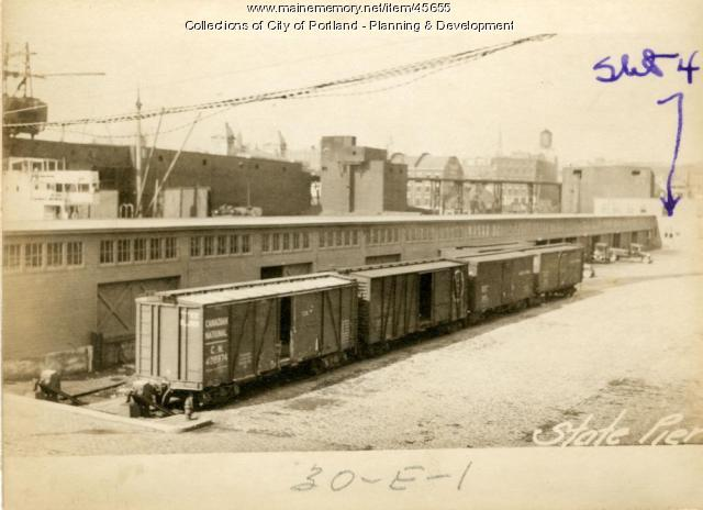 Shed, State Pier, Portland, 1924