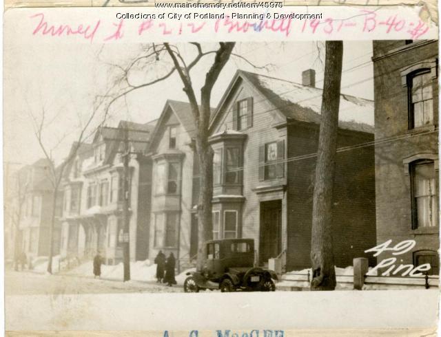 49 Pine Street, Portland, 1924