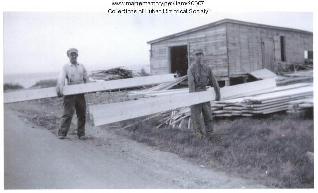 Colson sawmill exterior, Lubec, 1957
