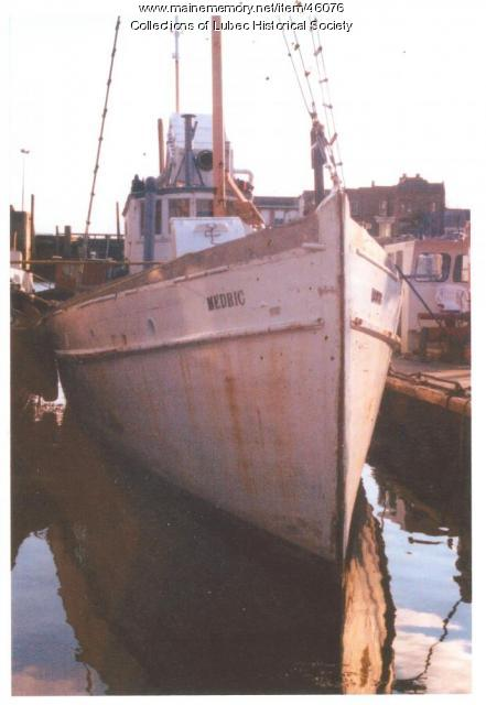 """""""Medric,"""" Colson Boat Shop, Lubec, ca. 1970"""