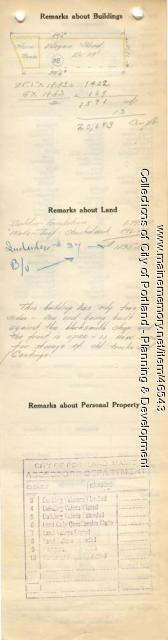 Assessor's Record, 2-40 Commercial Street, Portland, 1924
