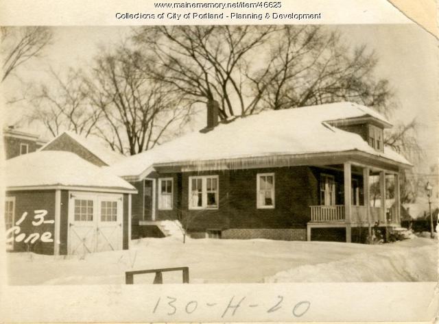 13 Concord Street, Portland, 1924