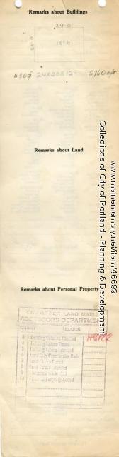 Assessor's Record, 71 Concord Street, Portland, 1924