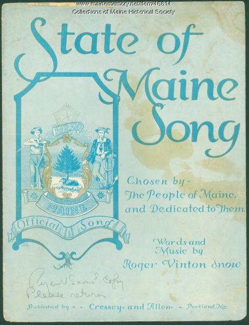 'State of Maine Song,' Portland, 1932