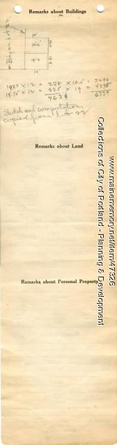 Assessor's Record, 687-695 Congress Street, Portland, 1924