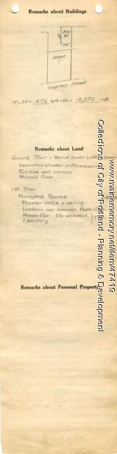 Assessor's Record, 567-569 Congress Street, Portland, 1924