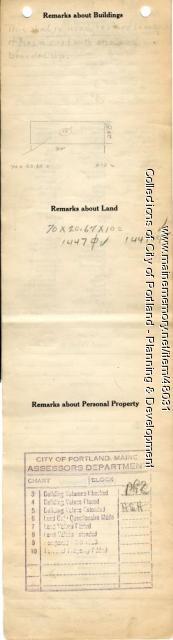 Assessor's Record, 54-56 York Street, Portland, 1924