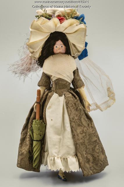 Parasol fashion doll, ca. 1794