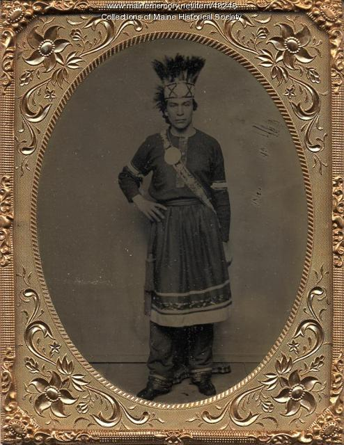 Wabanaki man, Hallowell, ca. 1865