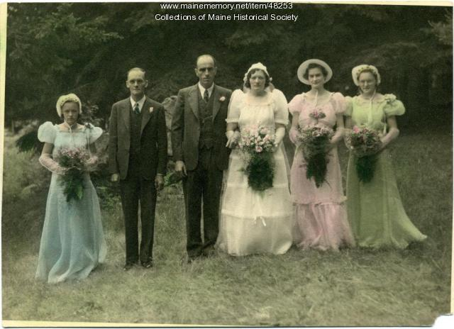 Robinson-Mitchell wedding party, Peru, 1939