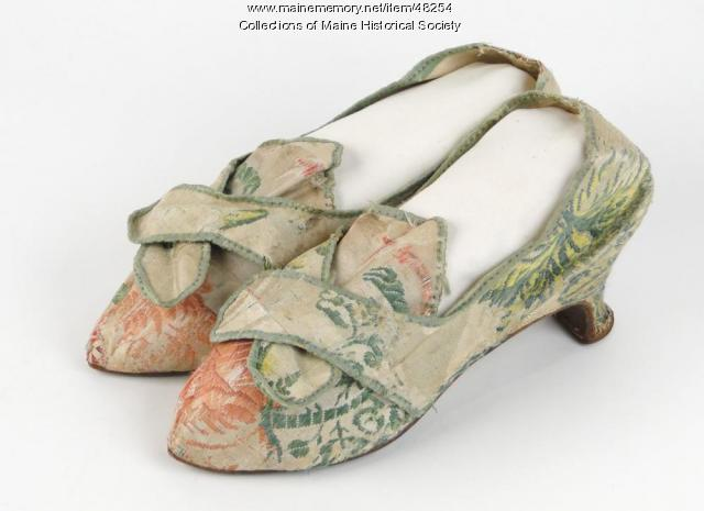 Deborah Thaxter wedding shoes, 1772