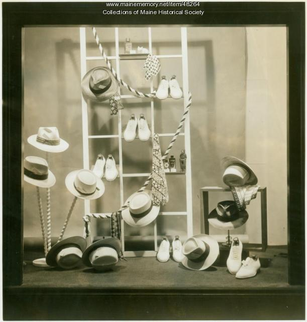 Benoit store window display, Portland, ca. 1950