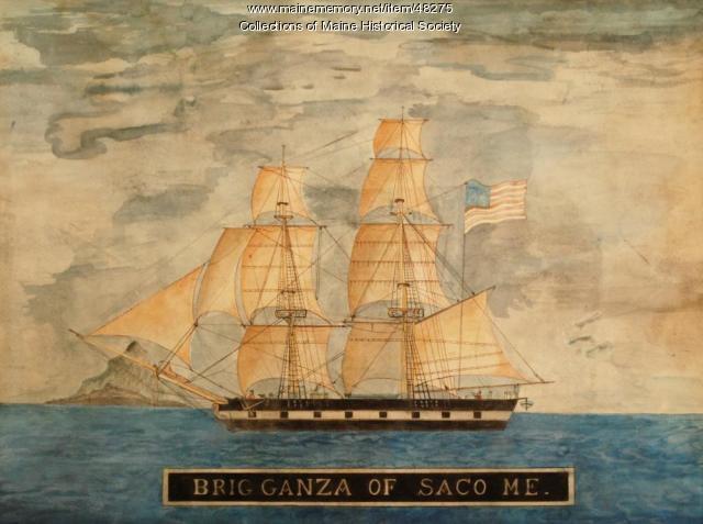 """Brig """"Ganza,"""" ca. 1833"""