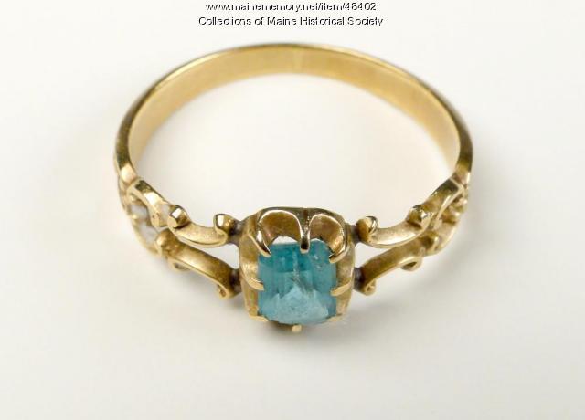 Susannah W. Cary ring, Houlton, ca. 1840