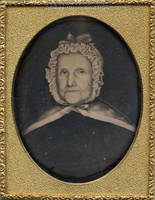 Woman with ruffled bonnet, ca. 1845