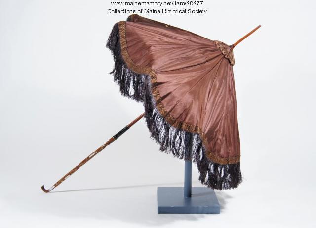 Silk parasol, ca. 1890