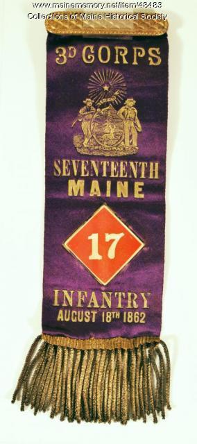 17th Maine badge, ca. 1862