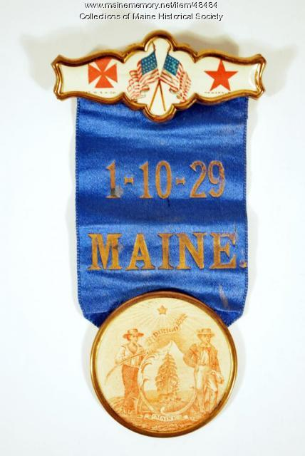 1-10-29 Maine Volunteers badge, ca. 1861