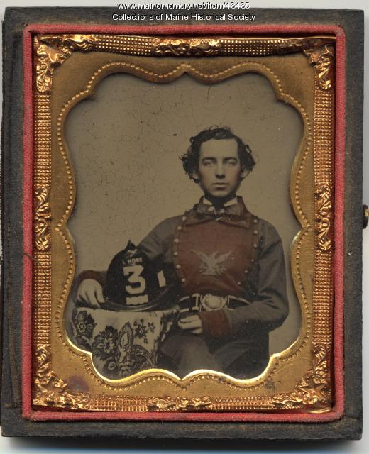 Skowhegan firefighter, ca. 1860
