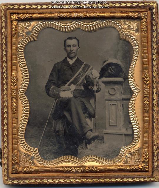 Man in Masonic regalia, Bowdoinham, ca. 1865
