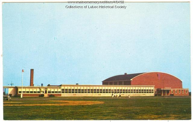 Elementary School and gym, Lubec, ca. 1957
