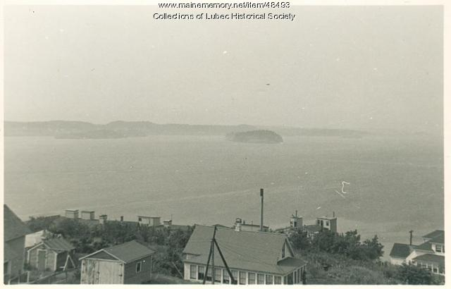 View across Johnson Street, Lubec, September, 1953