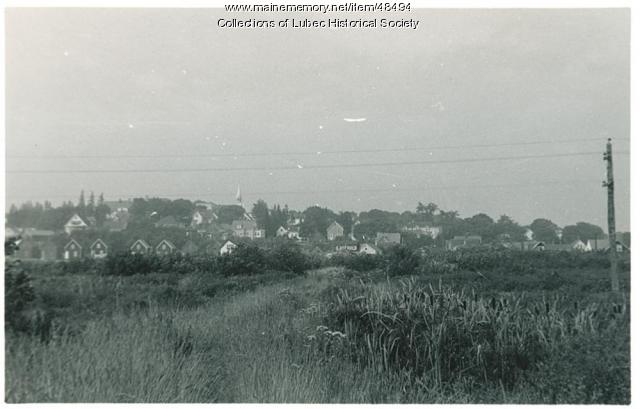 View of Lubec looking north, 1953
