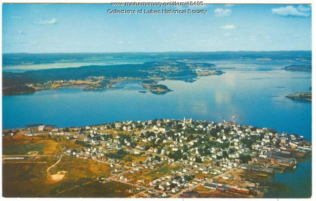 Aerial view, Lubec, ca. 1964