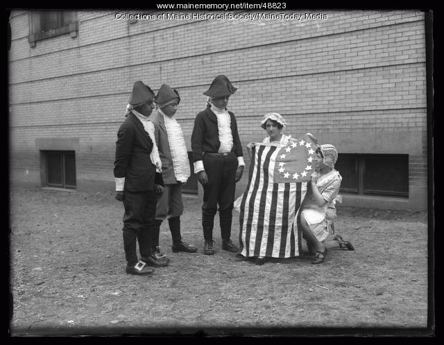Americanization colonial pageant, Portland, ca. 1926