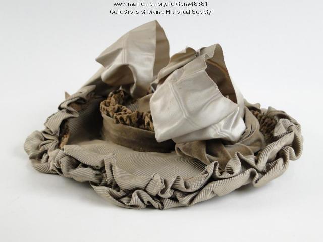 Alice Witham wedding hat, Scarborough, 1892