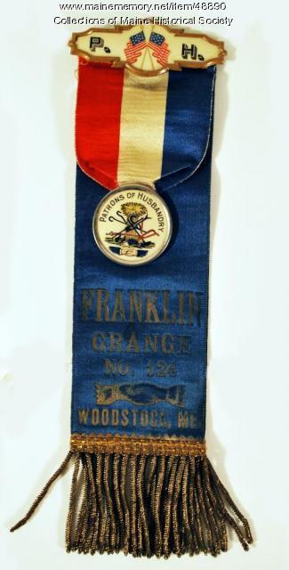 Franklin Grange ribbon, Woodstock, ca. 1893