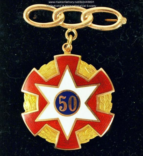 Odd Fellows medal, ca. 1940