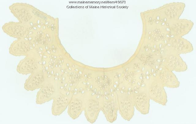 Embroidered collar, ca. 1865