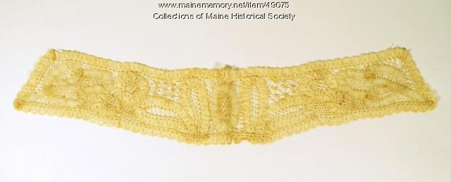Longfellow crochet lace collar, Portland, ca. 1820