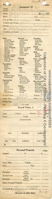 Assessor's Record, 10 Devonshire Street, Portland, 1924