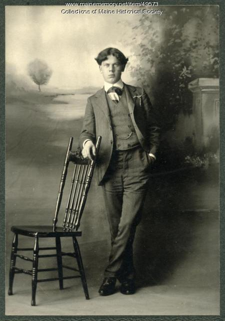 Unidentified young man, Freeport, ca. 1910