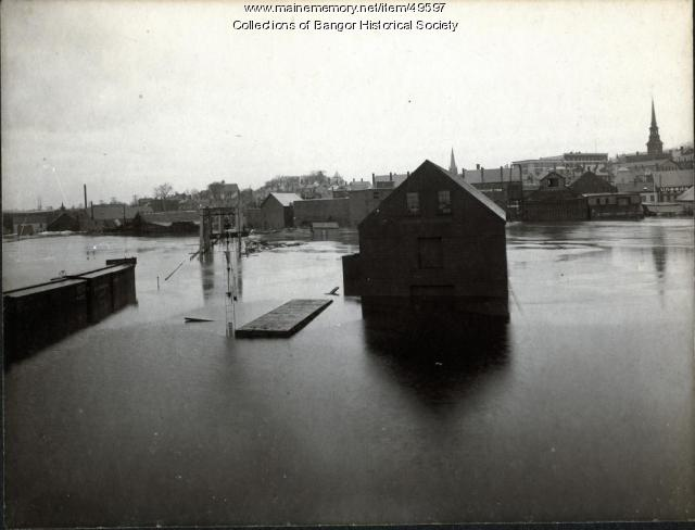 Flood on the Penobscot, Bangor, 1902