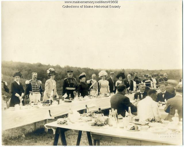 Lobster dinner, Augusta, ca. 1900