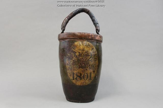 Fire bucket, Union Fire club, Hallowell, 1801