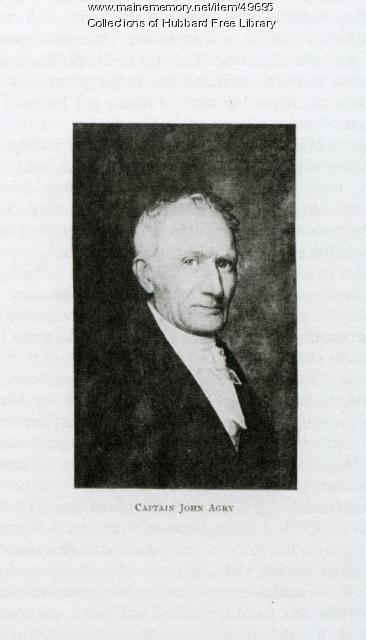 John Agry, Sea Captain, Hallowell, ca. 1801