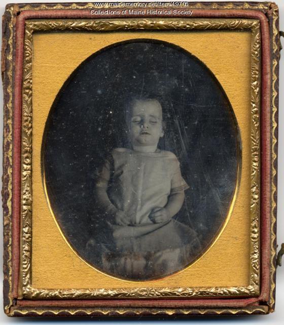 Johnnie Crockett post-mortem portrait, ca. 1850