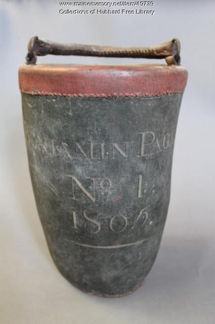Union Fire Club, Fire Bucket, Hallowell, 1805