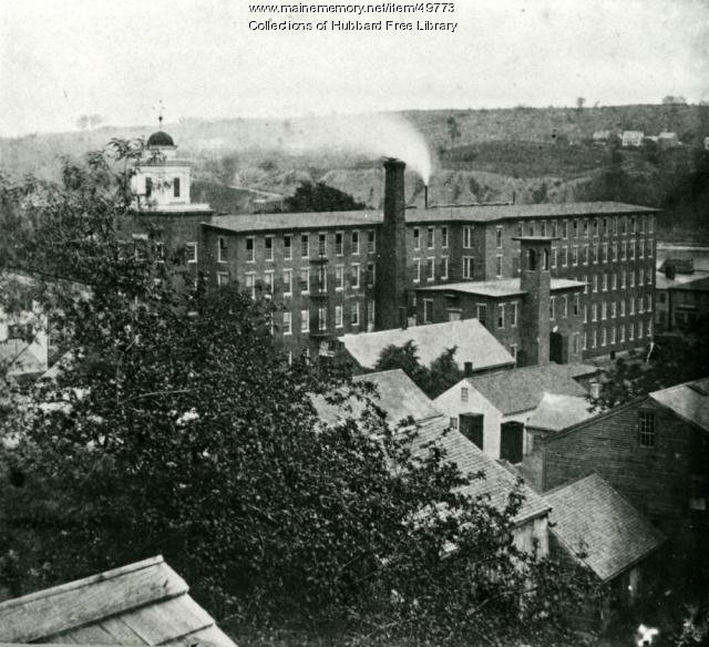 Cotton Mill, Academy Street, Hallowell, ca. 1890