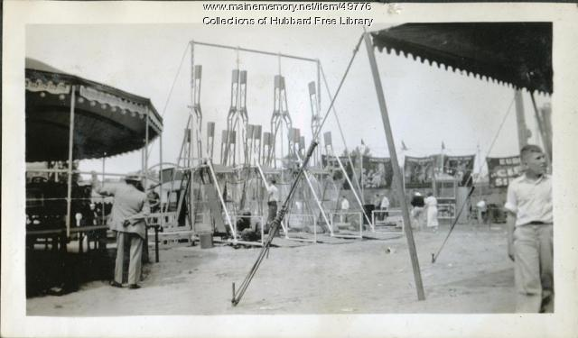 Carnival, Fire Department, Muster Field, Hallowell, ca 1934