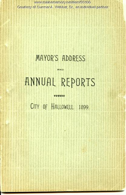 Annual Report, Hallowell, 1899