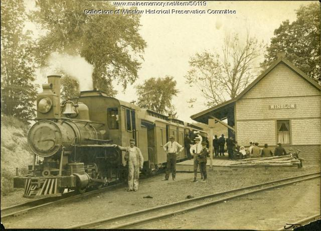 Narrow Gauge Railroad Winslow Ca 1905 Maine Memory