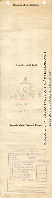 Assessor's Record, 18-28 Elm Street, Portland, 1924